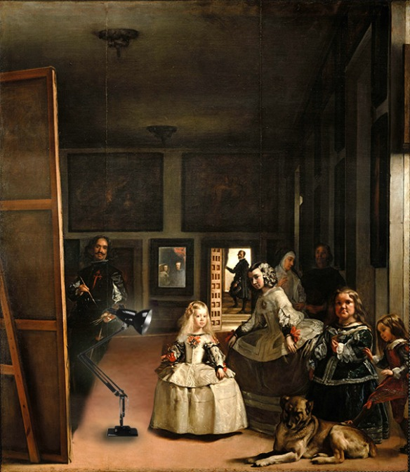 La(mp)s Meninas by Diego Velasquez (Creative Commons)