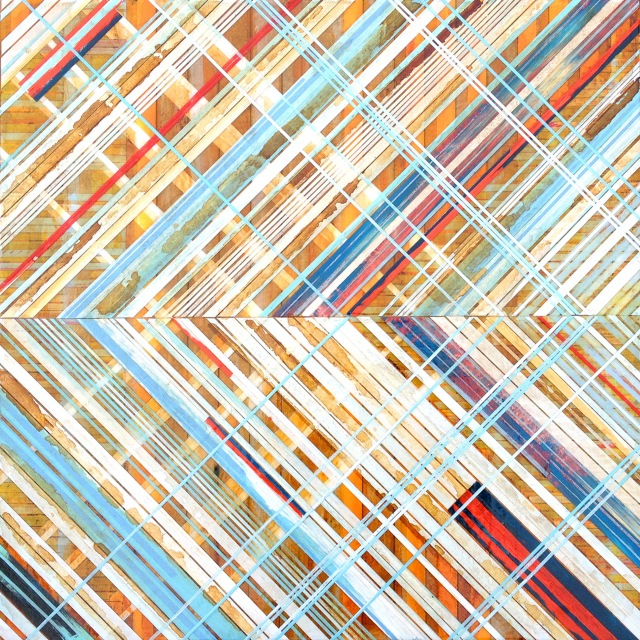 Tape Painting 1405, by Foster Scott (Courtesy of Place Contemporary [Art] )